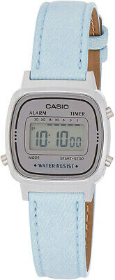 $ CDN31.72 • Buy Casio Women's Digital Quartz Resin Case/Blue Denim Leather Watch LA670WL-2A