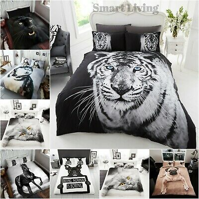 3D Animal Wild Bedding Duvet Covers Set With Pillow Case Single Double King Size • 19.99£