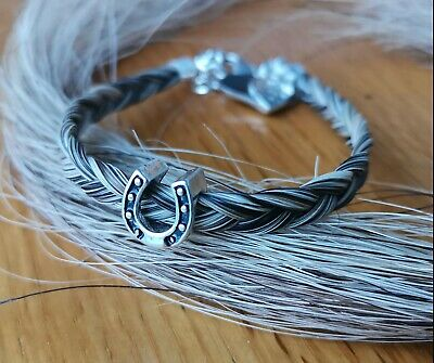 Horse Hair Bracelet made from your Horse/'s tail.Square braid Memento Keepsake