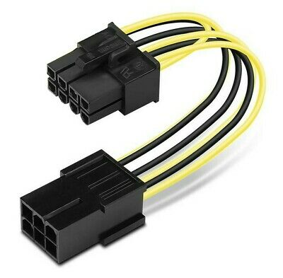 6-Pin PCIe To 8-Pin PCIe Adapter Power Cable - 10cm • 2.99£