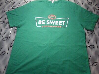 $7.99 • Buy XL Be Sweet By Helping Others Krispy Kreme Volunteer Stained T Shirt