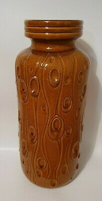 West German Scheurich Floor Vase 288-40: 'Koralle' Wood Effect Pattern • 40£