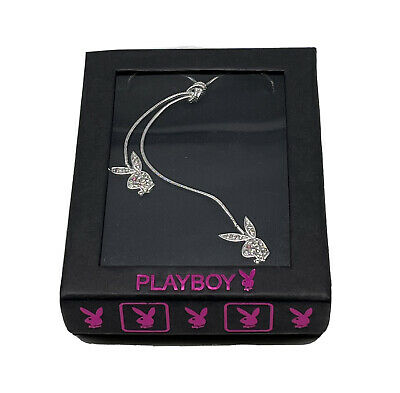 £4.99 • Buy Silver Necklace Chain By Playboy® Original Twin Head Pedant