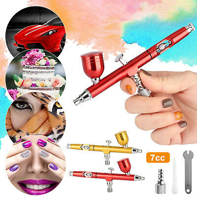 $15.98 • Buy Dual Action Gravity Feed 0.3mm Gun Spray Airbrush Nail Art Paint Tattoo Tool Kit