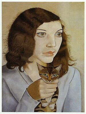 Girl With A Kitten Lucian Freud Print In 11 X 14 Inch Mount Ready To Frame • 19.95£