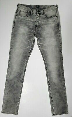 PRPS Goods & Co Mens Jeans Le Sabre Slim Fit Button Fly Distressed Gray Size 32 • 109.98£