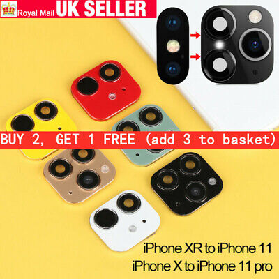 UK For IPhone X To IPhone 11 Pro Max  Fake Camera Lens Sticker Seconds Change • 3.59£