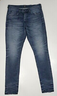 PRPS Goods & Co Mens Jeans Le Sabre Non Stretch Slim Tapered Dark Blue Size 32 • 109.98£