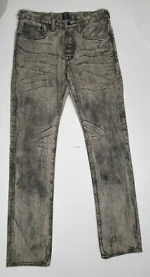 PRPS Goods & Co Mens Jeans Le Sabre Slim Fit Button Fly Tapered Grey Size 32 • 109.98£