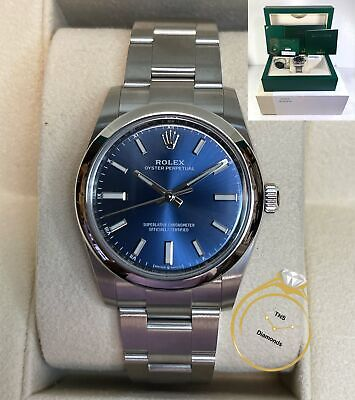 $ CDN8099.21 • Buy Dec 2020 New Rolex Oyster Perpetual 34 124200 Blue Dial 34mm Box Papers