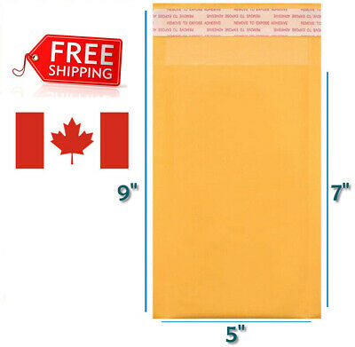 $ CDN18.99 • Buy 5 X 7 Kraft Bubble Mailers Gold Self Seal Padded Envelopes 5 X 7  Size #000