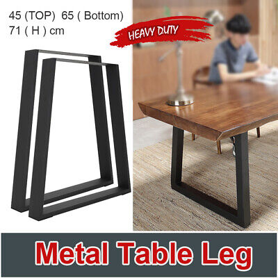 AU57.99 • Buy 2x Coffee Dining Table Legs Industrial Vintage Bench Metal Trapezoid 71CM