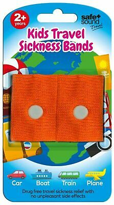 £8.82 • Buy Safe & Sound Travel Sickness Bands Ages 2+ Colour Received Will Vary 2 Per Pack