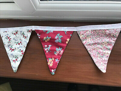 Vintage Laura Ashley Floral Fabric Bunting - Double Sided • 4.50£
