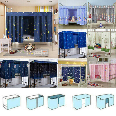 1.5*2M Cabin Bunk Bed Tent Curtain Cloth Dormitory Mid Sleeper Canopy Spread Kid • 7.39£