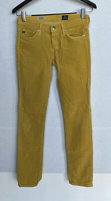 $ CDN38.21 • Buy Adriano Goldschmied Ag Women's Stevie Slim Straight Corduroy Pants Gold 26r
