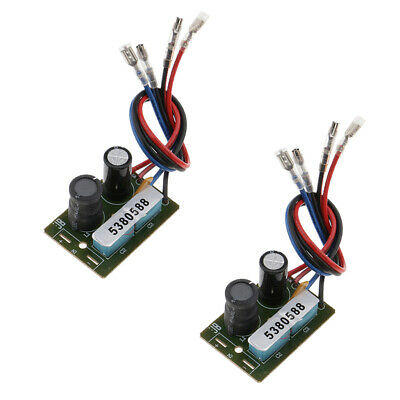 $ CDN11.73 • Buy 2Pcs Treble / Bass Frequency Divider 2 Way Speaker Audio Crossover Filters