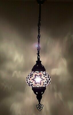 £25.99 • Buy Turkish Moroccan Glass Mosaic Hanging Lamp Ceiling Light Chandeliers Free Bulb