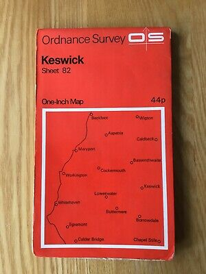 1971 Ordnance Survey One Inch Map 82 Keswick (incl Whitehaven & Workington ) • 4.95£