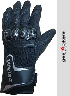 £24.99 • Buy Weise Oslo Textile Mesh Leather Short Motorcycle Scooter Glove Gloves