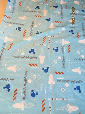 Disney Mickey Mouse Rocket Curtain Blue 44x60 Poly.   A6 • 15.74£