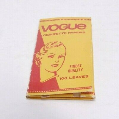 $ CDN16.86 • Buy Vintage Vogue Finest Quality Leaves Cigarette Wrapping Papers 100 Ct Pack