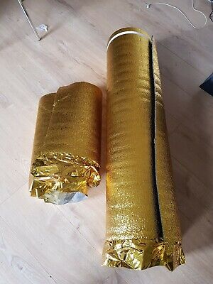 5mm Laminate Flooring Underlay Sonic Gold  Acoustic  Unused Remains 10m Approx • 15£