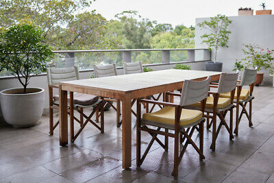 AU600 • Buy Large Teak Outdoor Dinning Table With 6 Chairs