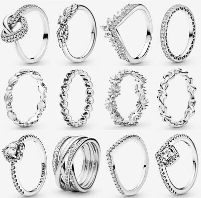 ALE S925 Genuine Silver Pandora Sparkling Ring & With Gift Box • 15.88£