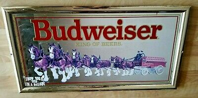 $ CDN54.67 • Buy  Vintage 1992 Budweiser  King Of Beers  Clydesdale Bar Mirror 27