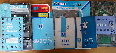 Coventry City Home Football Programmes 1958-2008 Various • 2.75£