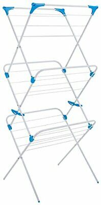 Minky 3 Tier Indoor Airer With 15 M Drying Space, Metal, White • 29.99£