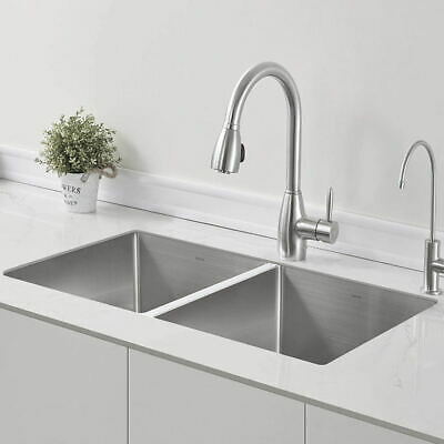 Large Stainless Steel Kitchen Sink Inset Double Bowl Reversible Sink Drainer • 145.33£