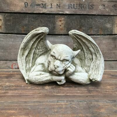Resting Gargoyle Garden Statue Made From Reconstituted Stone. • 22.99£