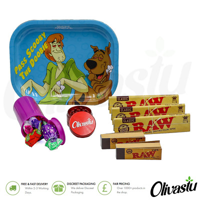 Rolling Tray Kit Gift Swizzels Sweets Set Raw Slim Papers Grinder Tips Pop Tops • 14.99£