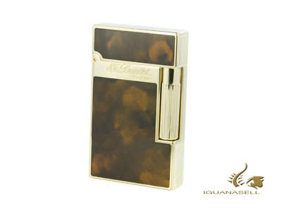 AU1610 • Buy S.T. Dupont Ligne 2 Lighter, Chinese Lacquer, Gold Trim, Brown, 16126