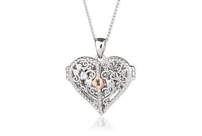 NEW Official Welsh Clogau Silver & Rose Gold Kensington Lock Locket £80 OFF! • 89£
