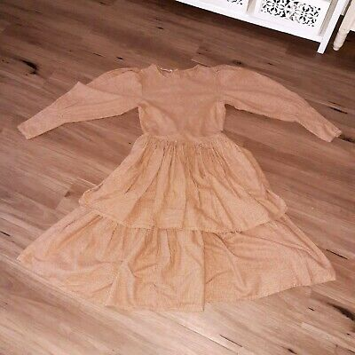 Vintage Steampunk Style Dress Brown/cream Pockets Edwardian Look Size Is Small • 29.50£