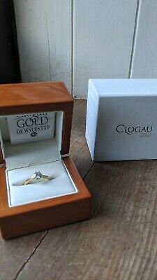 £1200 • Buy Clogau 18ct Yellow Gold Engagement Ring 0.5ct