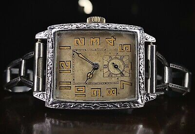 £500 • Buy 1920s Blancpain A Lecoultre American Art Deco Dress Watch, Serviced, Gold Filled