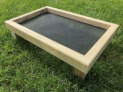 £14.50 • Buy Wooden Wild Bird Feeding Tray - Hand Made Strong MicroMesh Ground Feeder Table.