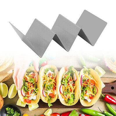 AU9.99 • Buy Rack Tortilla Stand Stainless Steel Tray Taco Shell Holder