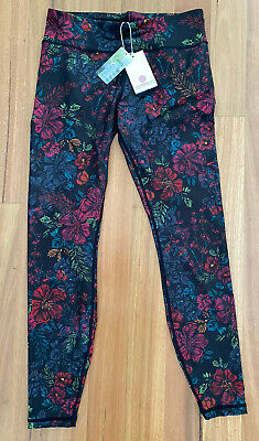 AU55 • Buy Bnwt - Dharma Bums Tights - Full Length - Equinox Recycled Print - Size M