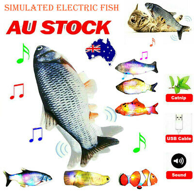 AU9.90 • Buy Electric Dancing Fish Cat Toy Wagging Realistic Moves USB Recharge Dance Fish AU