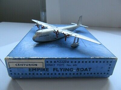 Dinky Aircraft 60r Empire Flying Boat  Centurion  In Original Box • 190£