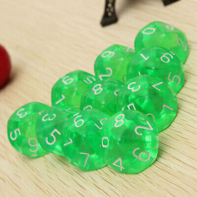 AU7.99 • Buy D10 Ten Sided Gem Dice For RPG  Table Games -Green