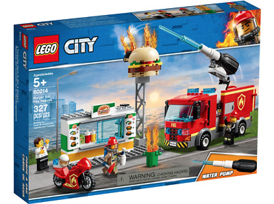 £19.93 • Buy Lego City Burger Bar Fire Rescue 60214 Fun - New 327 Pieces- Fast Delivery