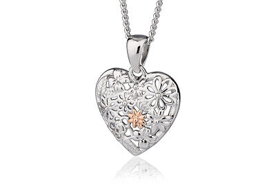 Official Welsh Clogau Silver & Rose Gold Floral Pendant £30 Off!  • 69£