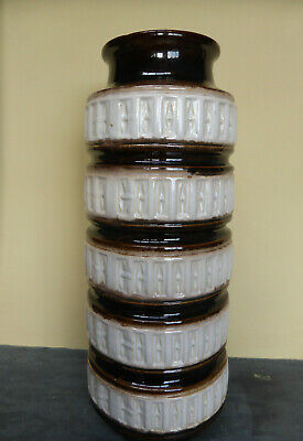 Large Vintage Retro West German Floor Vase Scheurich Tundra 268-40 1960s Pottery • 24£