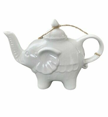 Cordon Bleu White Ceramic Elephant Teapot New  • 14.63£